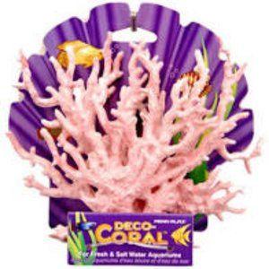 Penn-Plax Deco-Coral Pink&White